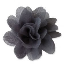 7cm Lily GREY Fabric Flower Applique